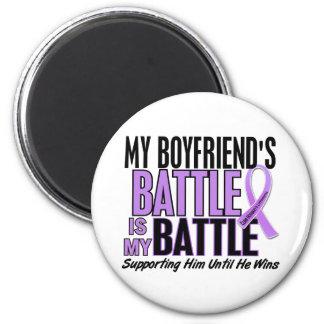 My Battle Too 1 Boyfriend Hodgkin's Lymphoma 2 Inch Round Magnet