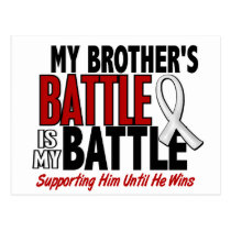 My Battle Too 1 Brother BONE / LUNG CANCER Postcard