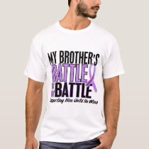 My Battle Too 1 Brother Hodgkin's Lymphoma T-Shirt