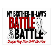 My Battle Too 1 Brother-In-Law BONE / LUNG CANCER Postcard