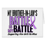 My Battle Too 1 Brother-In-Law Hodgkin's Lymphoma Card