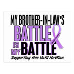 My Battle Too 1 Brother-In-Law Hodgkin's Lymphoma Postcard