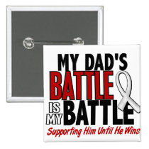 My Battle Too 1 Dad BONE / LUNG CANCER Pinback Button