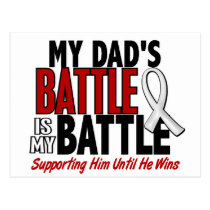 My Battle Too 1 Dad BONE / LUNG CANCER Postcard