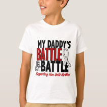 My Battle Too 1 Daddy BONE / LUNG CANCER T-Shirt