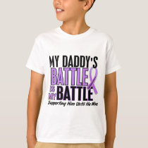 My Battle Too 1 Daddy Hodgkin's Lymphoma T-Shirt