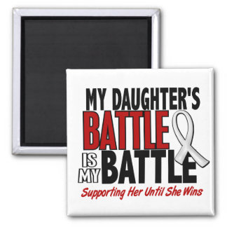 My Battle Too 1 Daughter BONE / LUNG CANCER Refrigerator Magnets