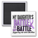 My Battle Too 1 Daughter Hodgkin's Lymphoma Refrigerator Magnet