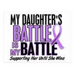 My Battle Too 1 Daughter Hodgkin's Lymphoma Post Card