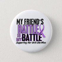 My Battle Too 1 Friend (Female) Hodgkin's Lymphoma Button