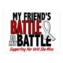My Battle Too 1 Friend (SHE) BONE / LUNG CANCER Postcard