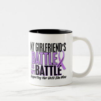 My Battle Too 1 Girlfriend Hodgkin's Lymphoma Two-Tone Coffee Mug