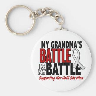 My Battle Too 1 Grandma BONE / LUNG CANCER Basic Round Button Keychain
