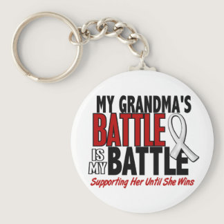 My Battle Too 1 Grandma BONE / LUNG CANCER Keychain