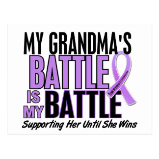 My Battle Too 1 Grandma Hodgkin's Lymphoma Postcard