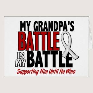My Battle Too 1 Grandpa BONE / LUNG CANCER Card
