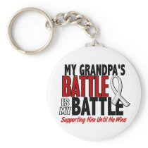 My Battle Too 1 Grandpa BONE / LUNG CANCER Keychain