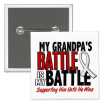 My Battle Too 1 Grandpa BONE / LUNG CANCER Pinback Button