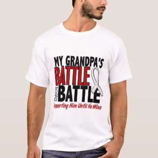 My Battle Too 1 Grandpa BONE / LUNG CANCER T-Shirt