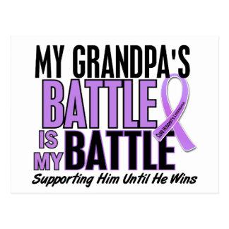 My Battle Too 1 Grandpa Hodgkin's Lymphoma Postcard