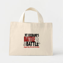 My Battle Too 1 Husband BONE / LUNG CANCER Mini Tote Bag