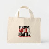 My Battle Too 1 Husband BONE / LUNG CANCER Mini Tote Bag