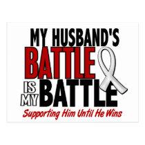 My Battle Too 1 Husband BONE / LUNG CANCER Postcard