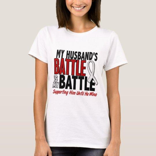 My Battle Too 1 Husband BONE / LUNG CANCER T-Shirt