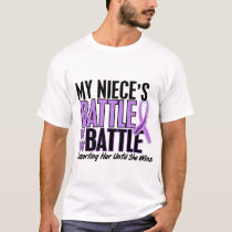 My Battle Too 1 Niece Hodgkin's Lymphoma T-Shirt
