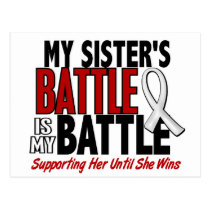 My Battle Too 1 Sister BONE / LUNG CANCER Postcard