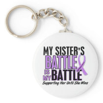 My Battle Too 1 Sister Hodgkin's Lymphoma Keychain
