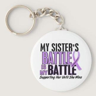 My Battle Too 1 Sister Hodgkin's Lymphoma Keychain