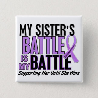 My Battle Too 1 Sister Hodgkin's Lymphoma Pinback Button