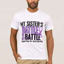 My Battle Too 1 Sister Hodgkin's Lymphoma T-Shirt