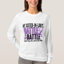 My Battle Too 1 Sister-In-Law Hodgkin's Lymphoma T-Shirt