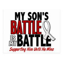 My Battle Too 1 Son BONE / LUNG CANCER Postcard
