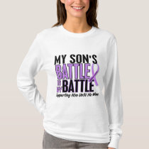 My Battle Too 1 Son Hodgkin's Lymphoma T-Shirt