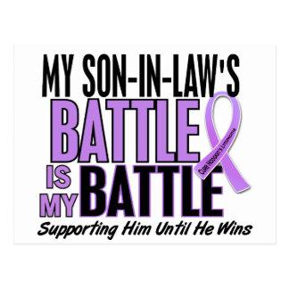My Battle Too 1 Son-In-Law Hodgkin's Lymphoma Postcard