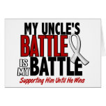 My Battle Too 1 Uncle BONE / LUNG CANCER Greeting Card
