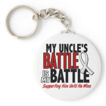My Battle Too 1 Uncle BONE / LUNG CANCER Keychain