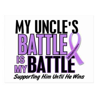 My Battle Too 1 Uncle Hodgkin's Lymphoma Postcard