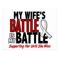 My Battle Too 1 Wife BONE / LUNG CANCER Postcard