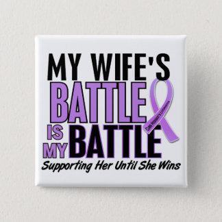 My Battle Too 1 Wife Hodgkin's Lymphoma Button