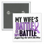 My Battle Too 1 Wife Hodgkin's Lymphoma 2 Inch Square Button