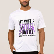 My Battle Too 1 Wife Hodgkin's Lymphoma T-Shirt