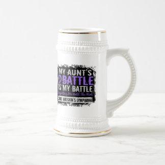 My Battle Too 2 Aunt Hodgkins Lymphoma Mugs