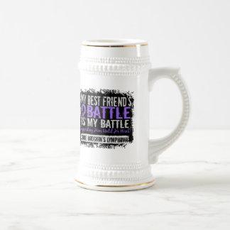 My Battle Too 2 Best Friend Male H Lymphoma Mugs