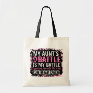 My Battle Too 2 Breast Cancer Aunt Tote Bag