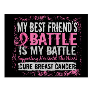 My Battle Too 2 Breast Cancer Best Friend Post Card