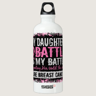 My Battle Too 2 Breast Cancer Daughter Water Bottle